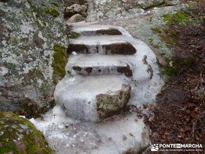 Hoces y cañones del Río Gallo - hielo en el camino;senderismo aiguestortes